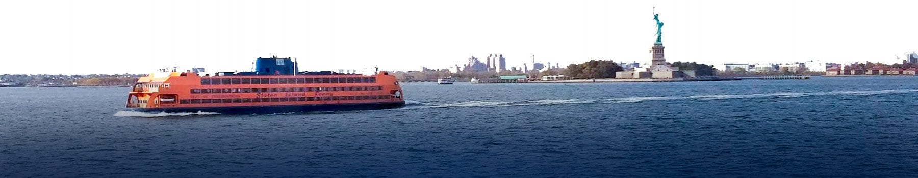 Staten Island Ferry with Statue of Liberty in the background