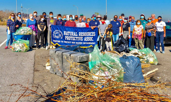 District Attorney Michael E. McMahon's office took part in multiple cleanups on Staten Island last weekend.