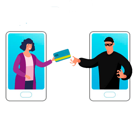 vector art two iphones next to each other with a payment transaction happening