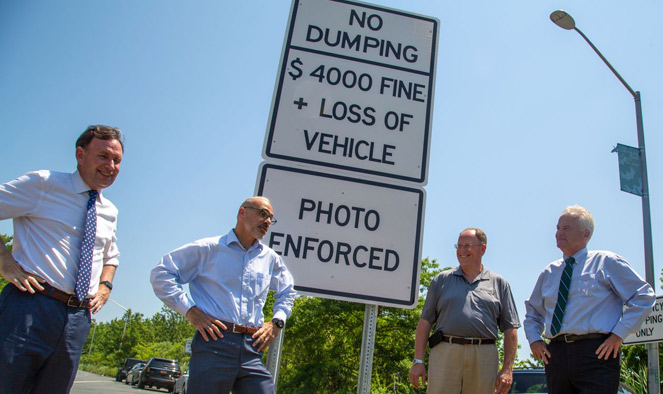 New signs warn 'inconsiderate slobs' of big fines for illegal dumping