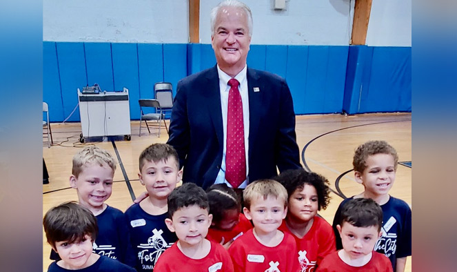 Nothing says we're back like summer camp': McMahon on hand as camp makes its return at West Brighton church